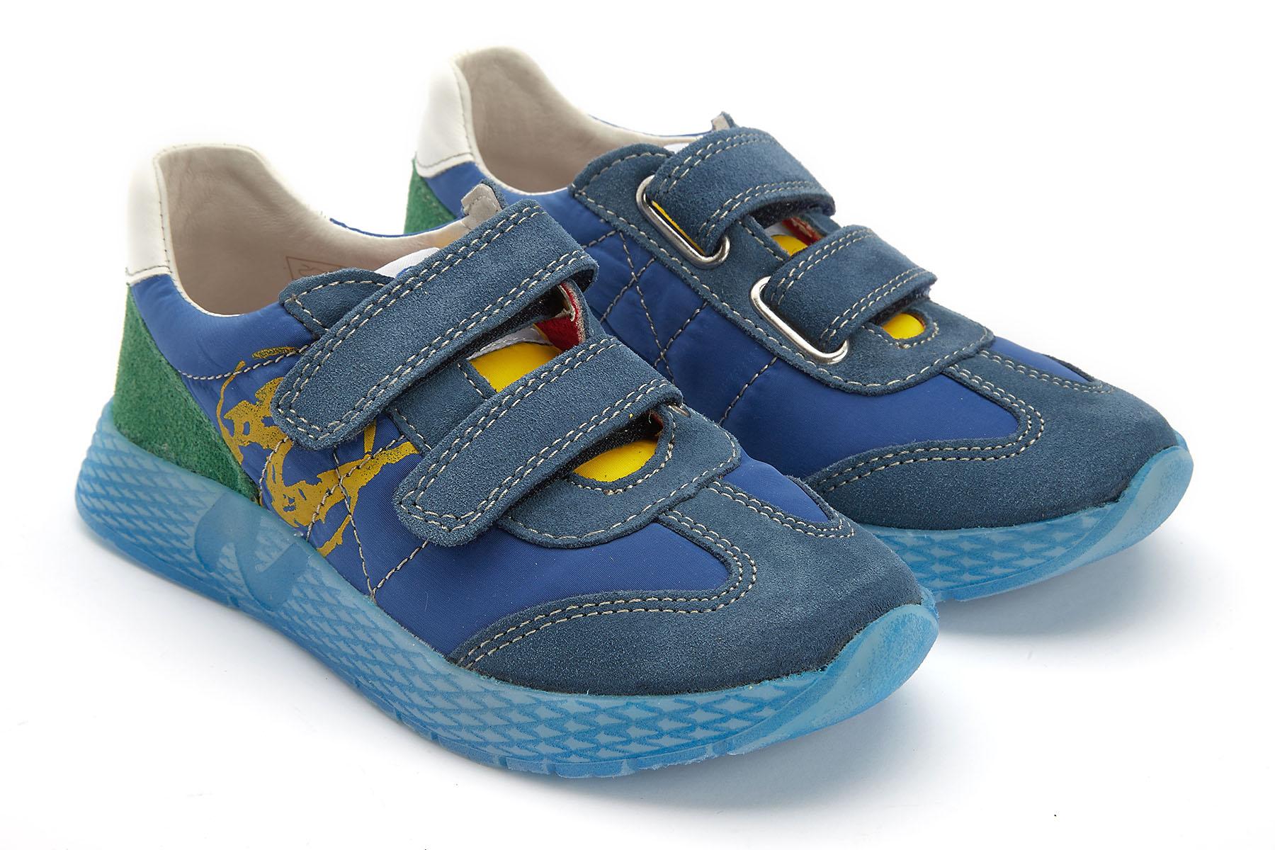 Sneakersy Dzieciece Naturino Jesko Azzurro Giallo Ver Apia