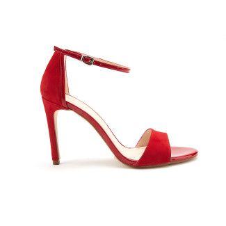Sandały Delicate Suede Red-000-012157-20