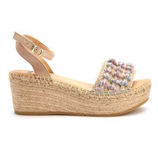 Sandały na platformie Plato Azul/Beige-000-012442-20