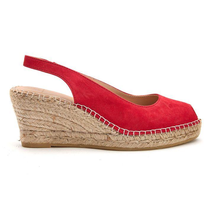Sandały na koturnie Enka Rojo-000-012717-20