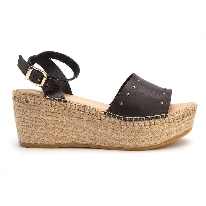 Sandały na platformie Plato Negro-000-012443-20