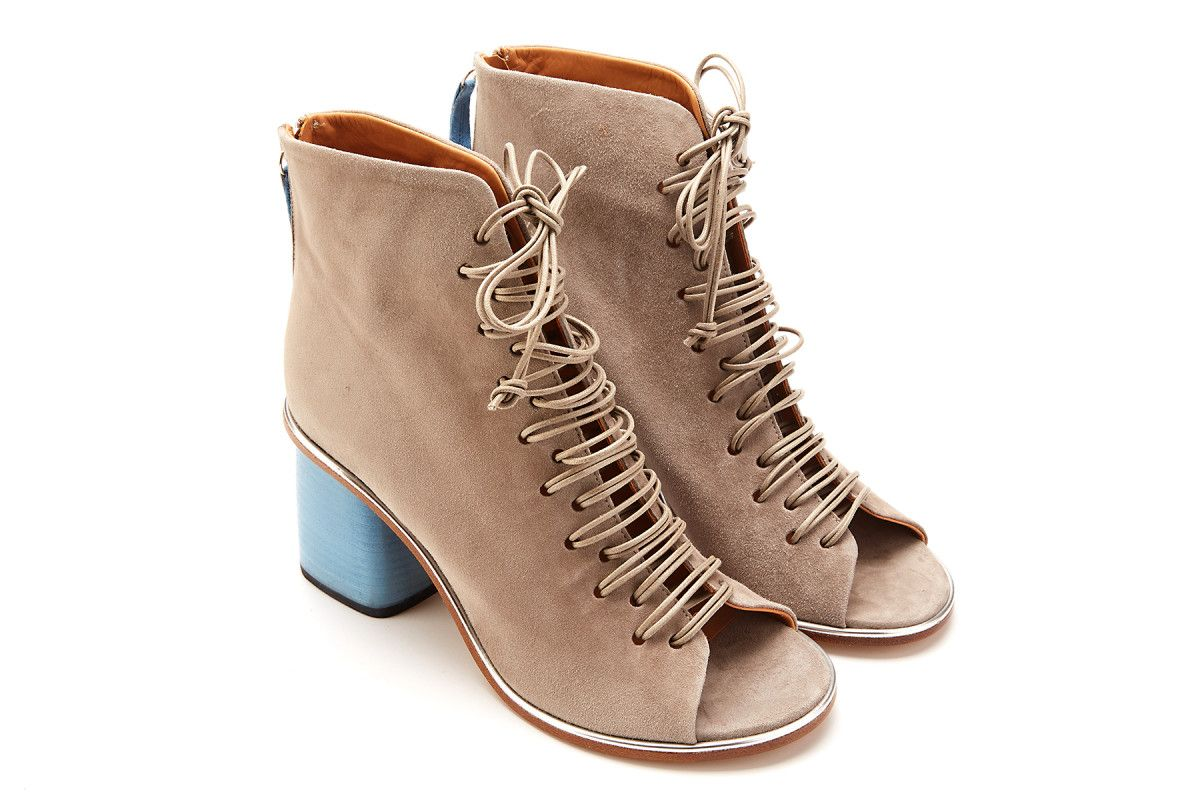 Sandały damskie na obcasie APIA Minoza 82 Suede Polvere