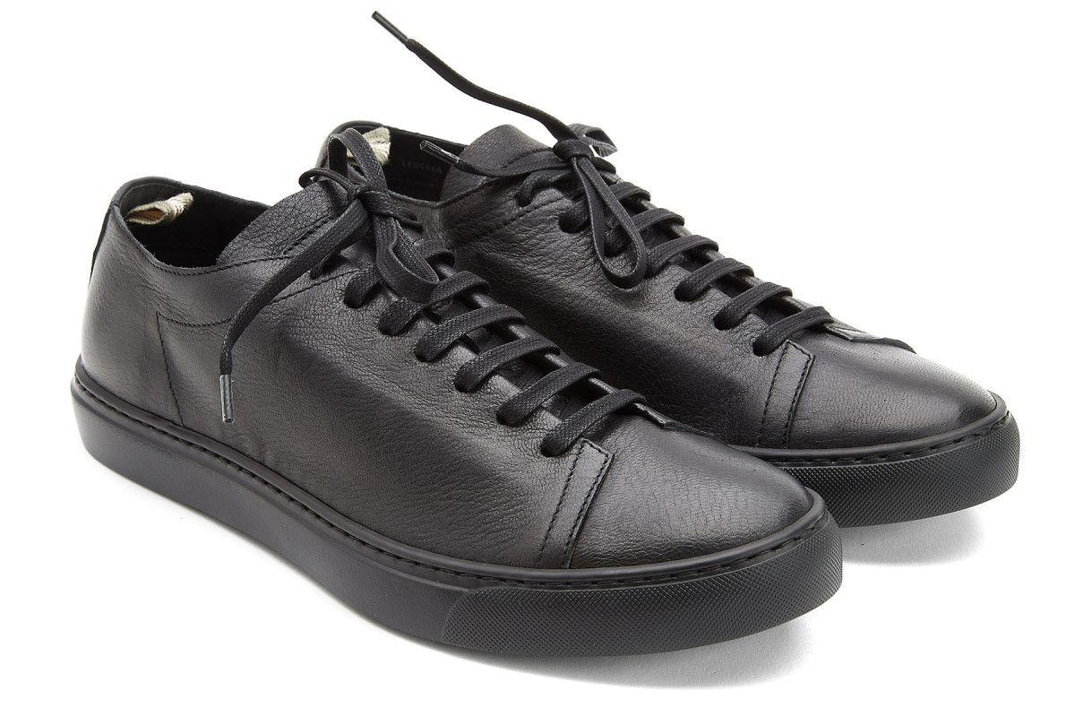 Sneakersy męskie trampki OFFICINE CREATIVE Leggera 015 Nero