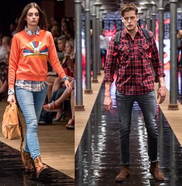 Buty APIA i jeans - pokaz kolekcji APIA & Lee &Wrangler